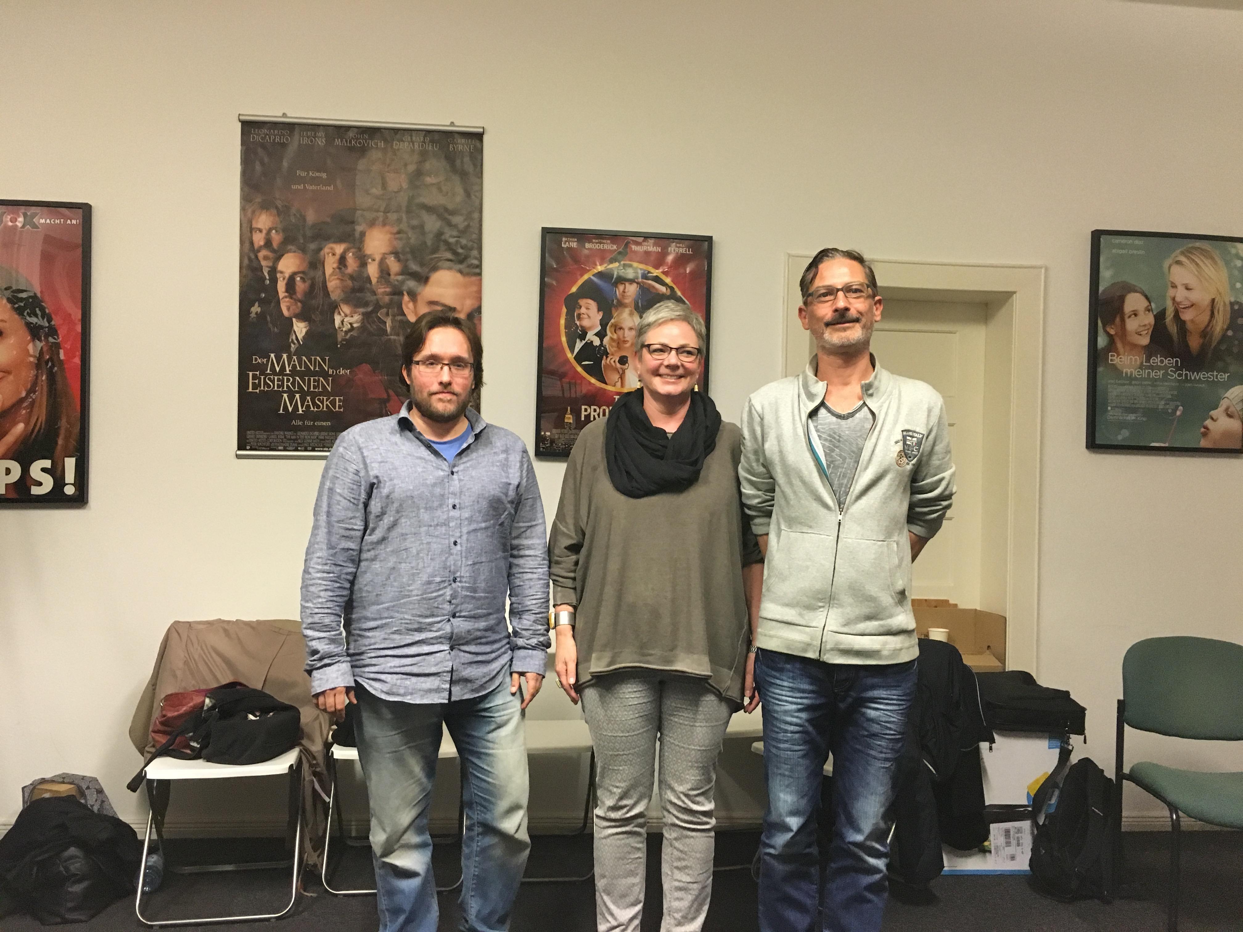 Der VeSAL-Vorstand: Hendrik Meyerhof, Anett Bogun, Sascha Unnasch